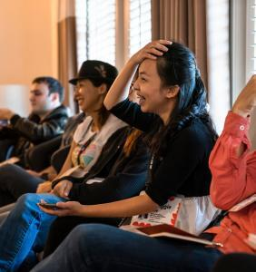 Some of our attendees Funny Girls TEDWomen 2018. Photo: Marla Aufmuth / TED