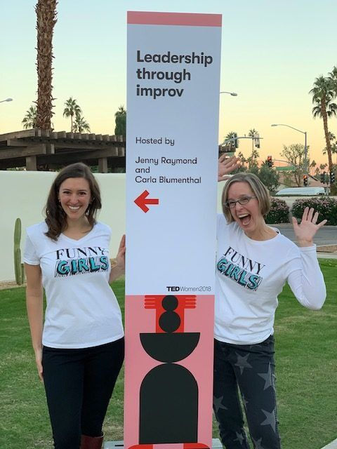 Jenny and Ruth Ann, TEDWomen 2018
